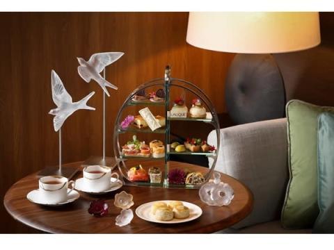 「ラリック」×「JWマリオット・ホテル奈良」のコラボアフタヌーンティー