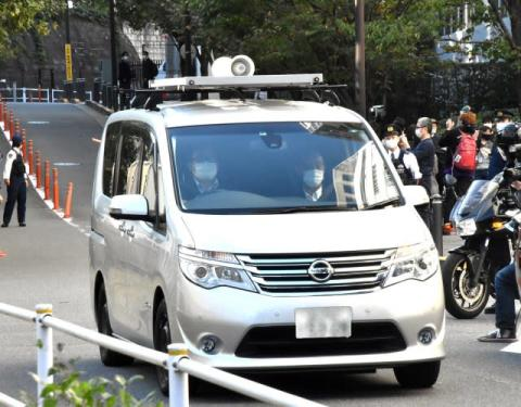 伊藤健太郎容疑者、原宿警察署から身柄移送 表情うかがえず