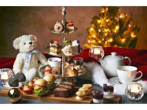 テディベアとヨーロッパのクリスマスをテーマにしたティーパーティーが開催