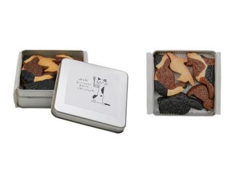 10匹の猫ちゃんが缶に入った「ukafe三毛猫クッキー」発売開始!