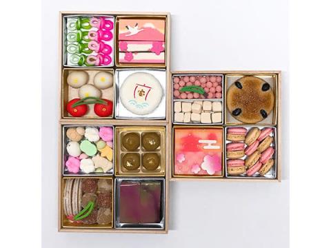 老舗和菓子屋の合作!新年への希望を込めた「迎春和菓子おせち」が限定発売
