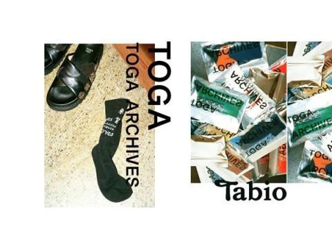 「TOGA」×「Tabio」のコラボレーション靴下が新発売!