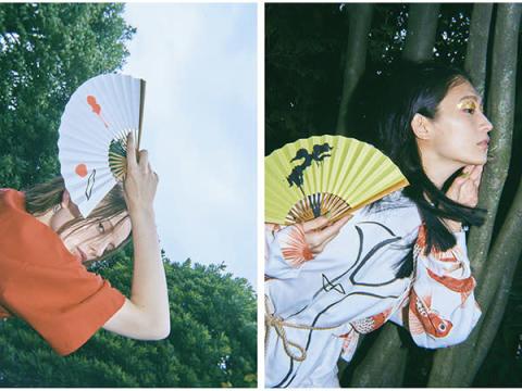 京扇子の老舗からアートな「扇子」を提案するファッションブランドが誕生