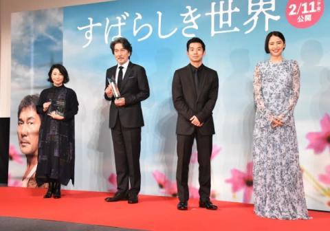 役所広司、仲野太賀は「愛されキャラ」 長澤まさみは「ものすごくきれい!」