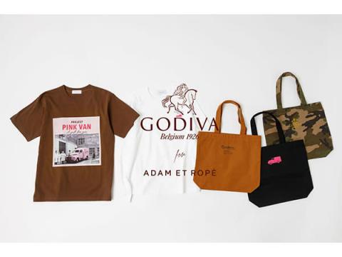 「ADAM ET ROPE'」と「GODIVA」がコラボ!Tシャツやトートバッグが登場