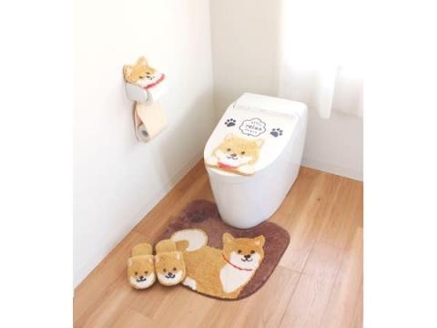 豆しば・ひつじでトイレをかわいくデコろう!マットほかシリーズで発売中