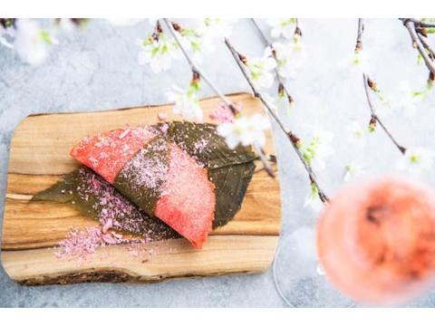 """""""目黒川の桜""""をイメージした春限定の和風デザートタコスが今年も登場!"""