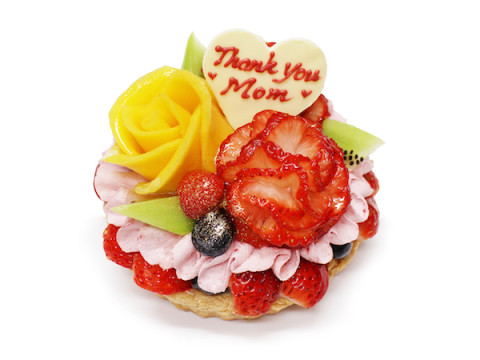 """母の日に!カフェコムサからフルーツを美しく飾った""""花束のケーキ""""が登場"""