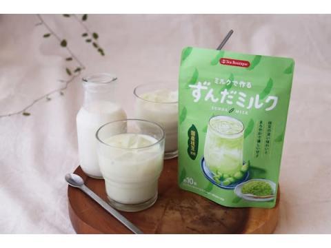 国産枝豆パウダー使用!本格的な味わいの「インスタントずんだミルク」発売