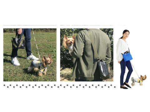 愛犬のお散歩用品を立てて収納可能!「ROOTOTE」のお散歩専用トート