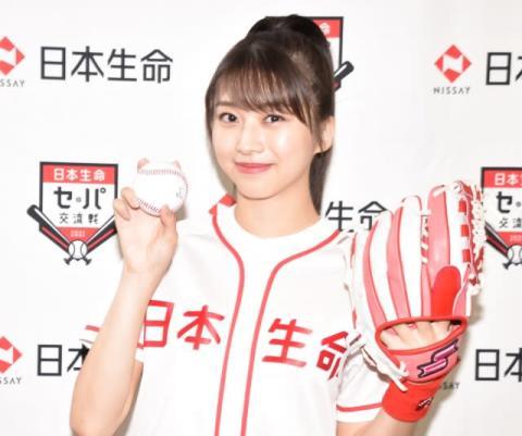モー娘。牧野真莉愛、5度目の始球式で広がる夢「メジャーリーグでも投げたい!」