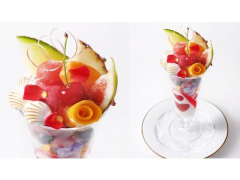 """川崎「資生堂パーラー」に旬の国産フルーツを盛り付けた""""ブーケパフェ""""が登場"""