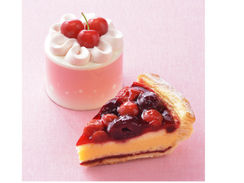 コージーコーナーから佐藤錦のショートケーキと2種のチェリーを使用したパイが発売!