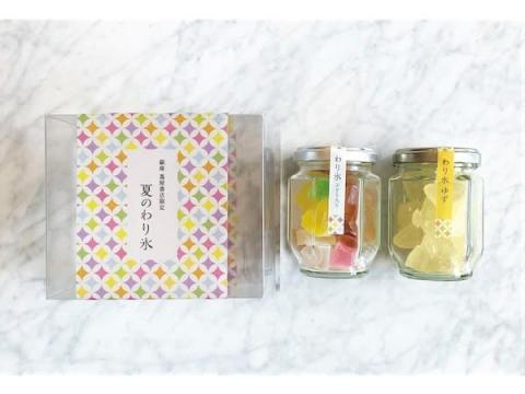 銀座 蔦屋書店に宝石のようにカラフルな和菓子「わり氷」の限定セットが登場!