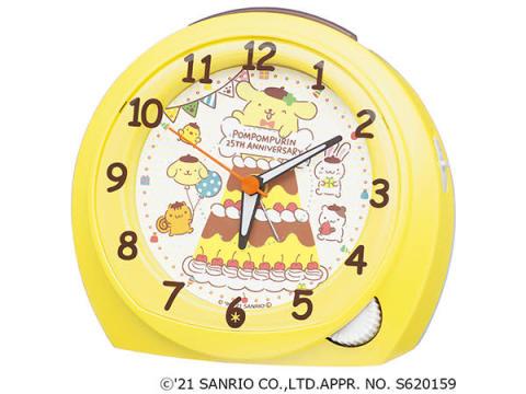 「ポムポムプリン」25周年記念の目ざまし時計を3,000台限定で発売