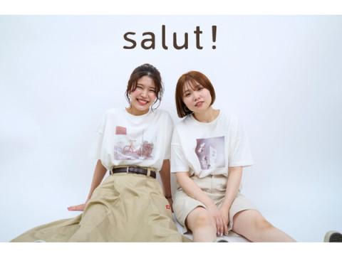 """シンプルで着やすい!「salut!」の""""バイヤーのこだわりがつまったTシャツ"""""""