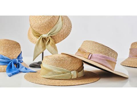 伝統×アップサイクル!marumasuから「ストールリボンの麦わら帽子」が発売
