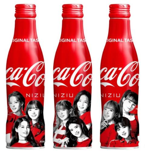 NiziUを起用した「コカ・コーラ」スリムボトル3種発売決定