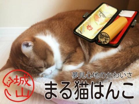 猫好き必見!外枠がそのまま猫になった今までにない印鑑「まる猫はんこ」発売中