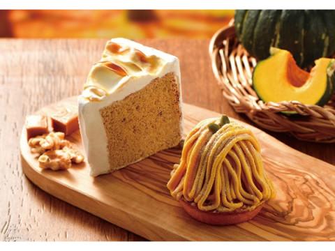 「カフェ・ド・クリエ」に、秋の訪れを感じるモンブラン&シフォンケーキが登場!