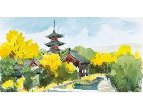 横浜高島屋にて「安野光雅 追悼『洛中洛外と京都御苑の花』展」開催