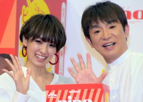 濱口優、妻・南明奈と笑顔の2ショット公開「本当に素敵な夫婦」「雰囲気似てきた」