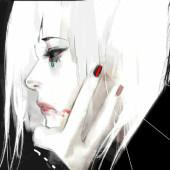 白い薔薇と黒い蝶