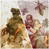 戦闘中の兵士から休日の兵士達は今も心は繋がっている