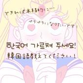 한국어 가르쳐 주세요! 韓国語教えてください!