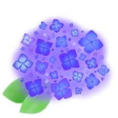 紫陽花のアイコン画像