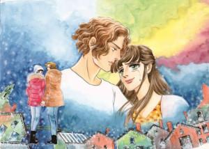 ベルばら作者描き下ろし 『雪の華』登坂広臣×中条あやみのオリジナルビジュアル公開