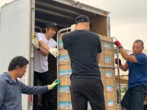 AAA西島隆弘が千葉県で復興支援 物資の搬送や写真撮影にも応じる