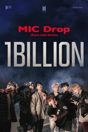 BTS「MIC Drop」リミックスMV、10億再生突破 世界的DJスティーブ アオキ共演作