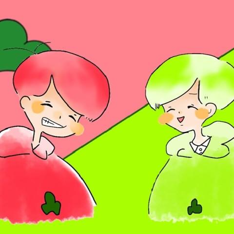 葵と向日葵